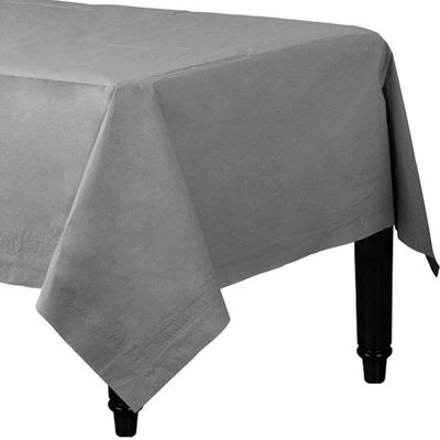 Silver Tablecover - 2ply Paper - 1.4m x 2.8m