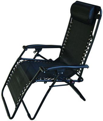 Starmo Black Zero Gravity Reclining Garden Chair