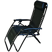 Starmo Black Zero Gravity Reclining Garden Chair
