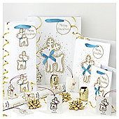 Gold Reindeer Christmas Wrapping Paper, Tags and Accessories pack