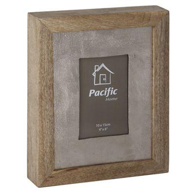 Raw Nickel & Mango Wood Photo Frame