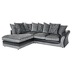 Arabella Left Hand Corner Chaise, Safari Dark Grey