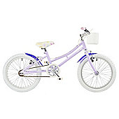 "Concept Fleur 16"" Wheel Kids Bike Single Speed Stabilisers Purple"