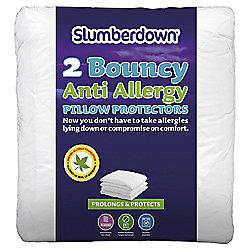 Slumberdown Bouncy Anti-Allergy pillow protector pair