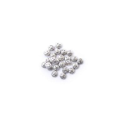 Craft Factory Metal Casting Beads pk25 6mm Silver