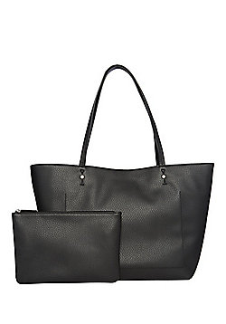 F&F Grained Tote Bag with Pouch