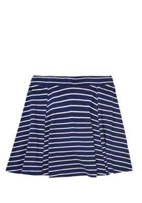 F&F Striped Jersey Skater Skirt Navy/White 10-11 years