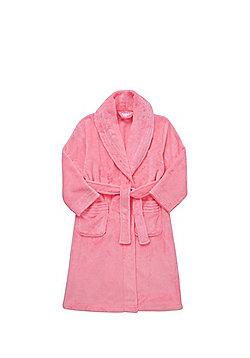 F&F Fleece Dressing Gown - Neon pink
