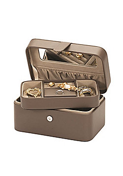 Bonded Leather Jewellery Box - Mink