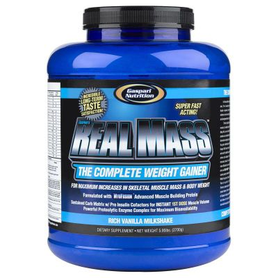 Gaspari Real Mass 2.27kg - Rich Vanilla Milkshake
