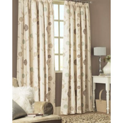 Dreams n Drapes Rosemont Pencil Pleat Lined Half Panama Curtains 46x54 inches - Natural