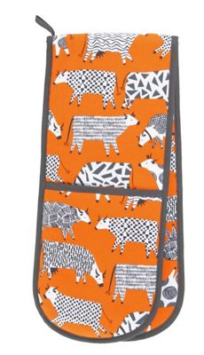 Ulster Weavers Curious Cows Design Double Oven Glove 7CUC03