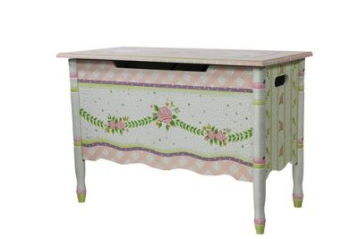 Fantasy Fields by Teamson Crackled Rose Toy Chest