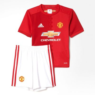 73118c628 Buy adidas Manchester United 2016 17 Mini Home Kit Red - 2-3 Years ...