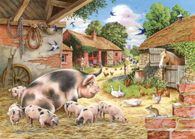 Poppys Piglets - Big 500pc Puzzle