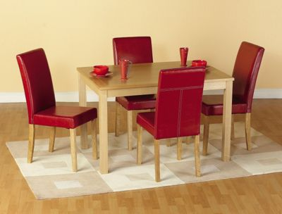 Home Essence Oakmere 5 Piece Dining Set - Rustic Red
