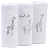 Silver Cloud Giraffe Muslins 3 Pack