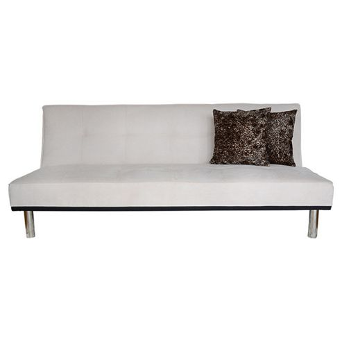Leader Lifestyle Zenko 3 Seater Clic-Clac Sofabed - Beige / Faux Suede