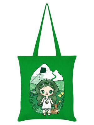Mio Moon Flower Power Green Tote Bag 38x42cm