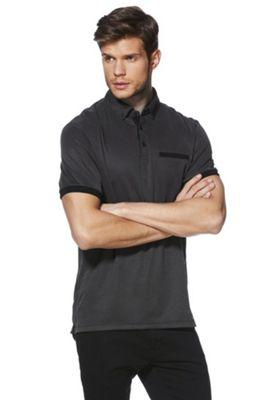 F&F Soft Touch Birdseye Stripe Polo Shirt 2XL Black