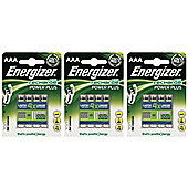 12 x Energizer AAA Rechargable Power Plus Batteries mAh NiMH 700mAh LR03 HR03