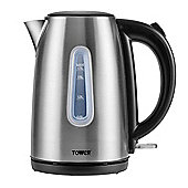 Tower Brushed Stainless Steel Jug Kettle - Chrome