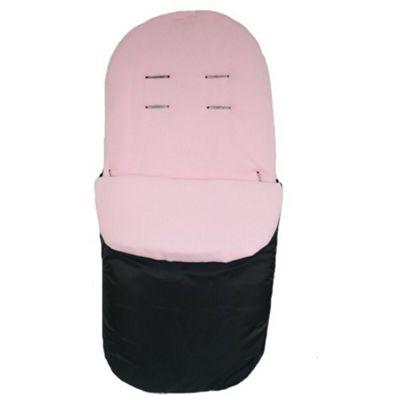 PreciousLittleOne Stroller Footmuff (Black/Pink)