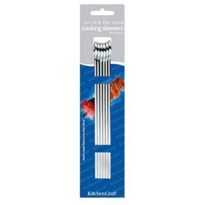 Kitchen Craft Flat Sided Skewers 20cm pack of six
