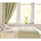 Dreams n Drapes Botanique Green Lined Curtains - 168x183cm