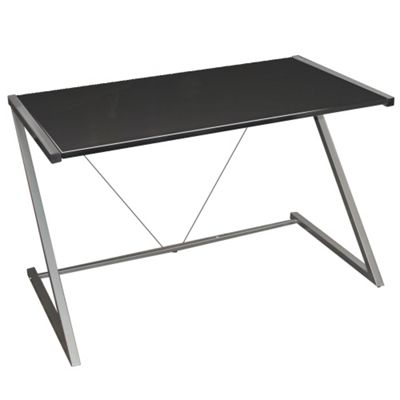 Indigo - Gloss Office Desk / Workstation - Black