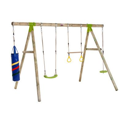 Plum Capuchin® Wooden Garden Swing Set