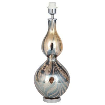 Amber Swirl Glass Lamp Base