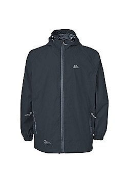 Trespass Boys Qikpac Waterproof Packaway Jacket - Charcoal
