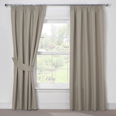 Julian Charles Luna Mocha Blackout Pencil Pleat Curtains - 90x90 Inches (229x229cm)