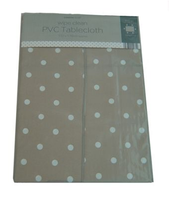 Country Club 132cm x 178cm Rectangle PVC Tablecloth Natural Spot