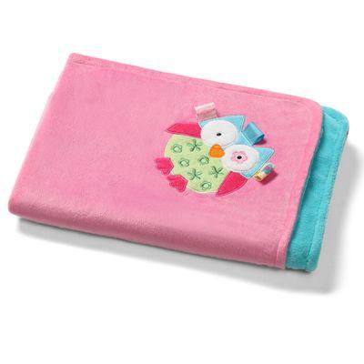 Baby Blanket- Pink Owl