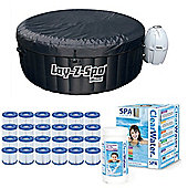Bestway Lay-Z-Spa Miami & Gold Starter Kit -Filters Chemicals, Multifunction Tab