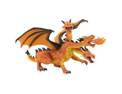 Fantasy - Orange 3 Headed Dragon Figurine - 7' - Bullyland