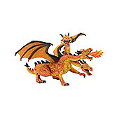 Fantasy - Orange 3 Headed Dragon Figurine - 7' - Bullyland
