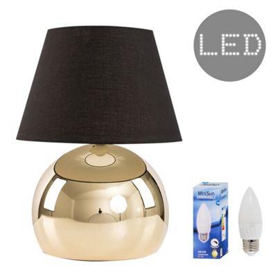 Mojo Touch LED Table Lamp Base - Gold & Black