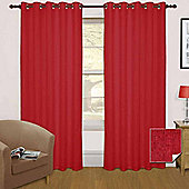 Homescapes Wine Thermal Blackout Eyelet Curtain Pair, 90 x 72""