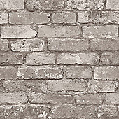 Rustic Brick Cream Wallpaper