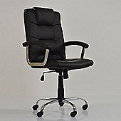 Stratos Black Faux Leather Office Chair