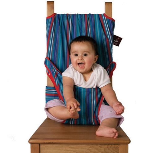 Totseat Chair Harness Blue Stripe