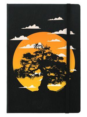 Oriental Sunrise A5 Notebook Black 14x21cm