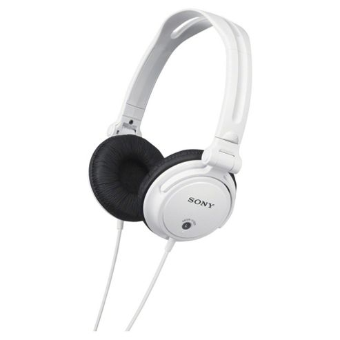 Sony MDR-V150 Headphones with DJ Reversible Earcups - White