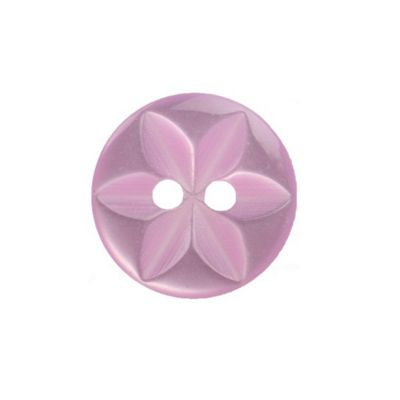 Hemline Lilac Round Star Buttons 11.25mm 14pk