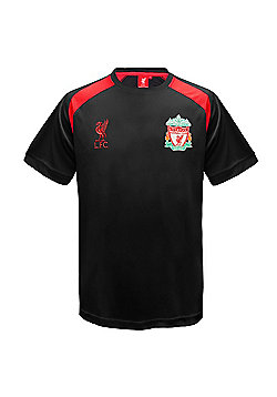 Liverpool FC Boys Poly T-Shirt - Black