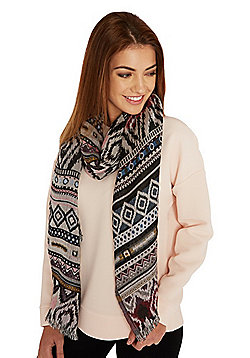 Pieces Patterned Long Scarf - Multi