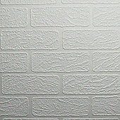 Superfresco Paintable Brick Effect White Wallpaper